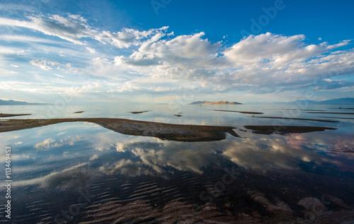 People at Great salt lake, Utah