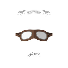 Aircraft Glasses In A Flat Style