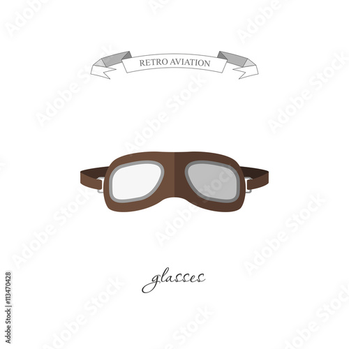 Photo Aircraft glasses in a flat style