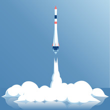 Vector Illustration Launch Of ...