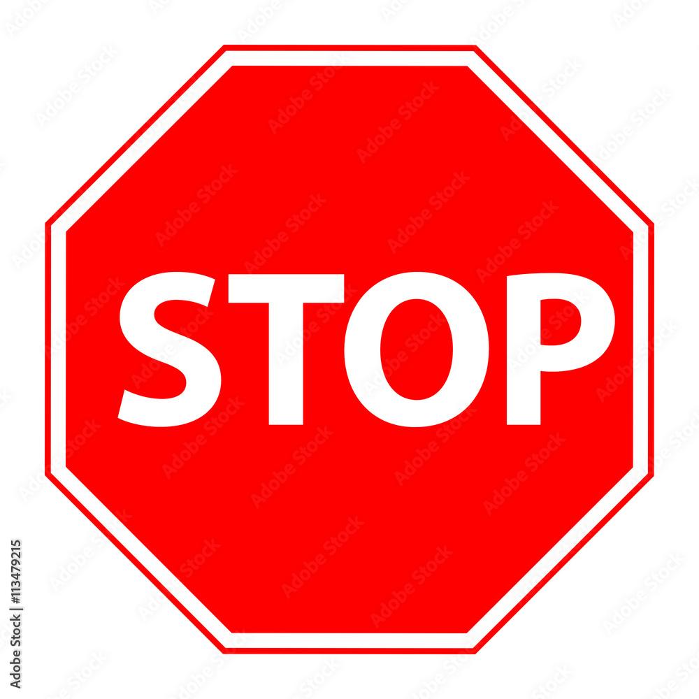 Obraz Znak stop fototapeta, plakat
