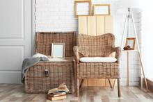 Wicker Furniture In Room Design Interior