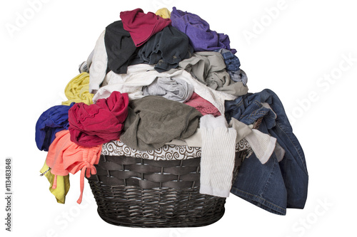 Photo  Dirty Laundry in Basket