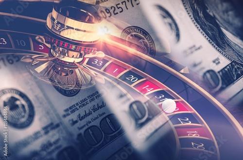 Casino Games Roulette Concept Poster