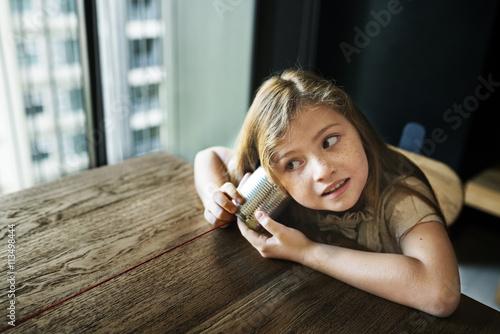 Fotografía  Adorable Girl Fun Curiosity Concept