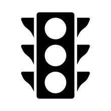 Traffic Control Light / Signal Flat Icon For Apps And Websites
