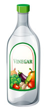 Bottle Of Vegetable Vinegar