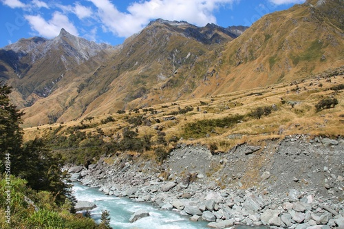 Fotografiet  New Zealand landscape - Mount Aspiring