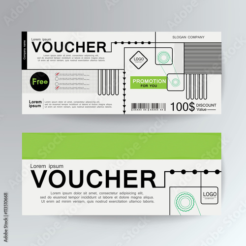 Voucher Gift Certificate Coupon Template Gifts Presents Background For Invitation Money Design Currency Note Check Cheque Ticket Reward Vector