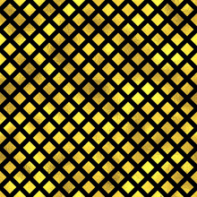 Seamless Fashion Vector Pattern With Gold Diamonds