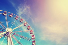 Vintage Stylized Ferris Wheel ...