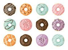 Sweet Vector Donuts Set