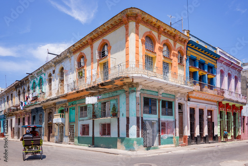 Colorful buildings in Havana, Cuba