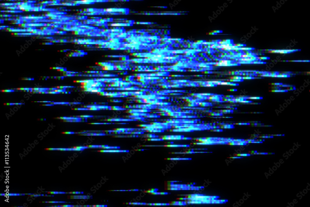 Fototapety, obrazy: Abstract Glitch Effect in Motion. Nice 3D Rendering