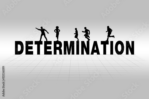 Poster  Determination Concept Illustrated by Determination Word in Silhouette
