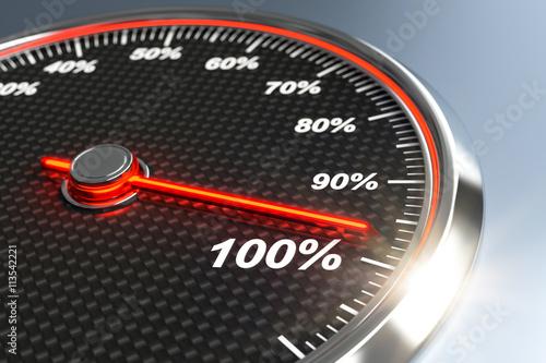 Tachometer kurbelt die Motivation auf 100 Prozent