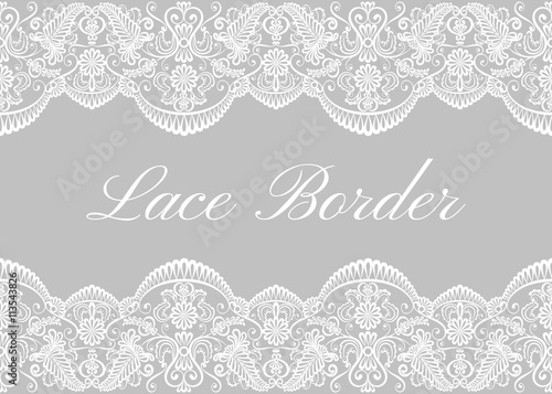 White lace borders Fototapet