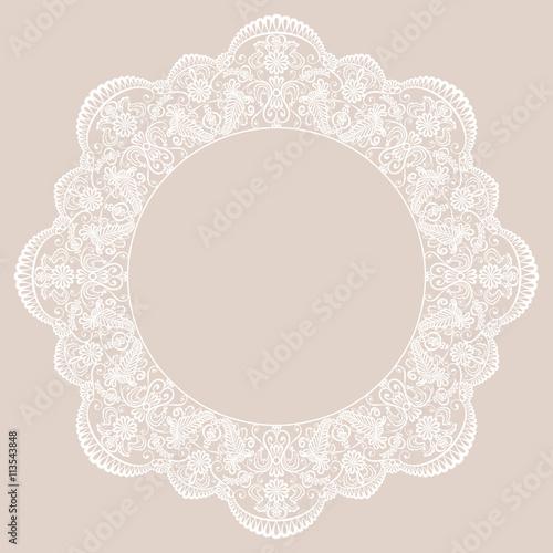 Valokuva  Round lace frame