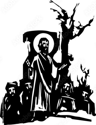 Fotografie, Obraz  Sermon Preaching Christ