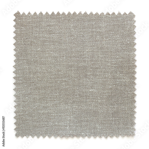 Fotobehang Stof Natural fabric swatch samples isolated on white background