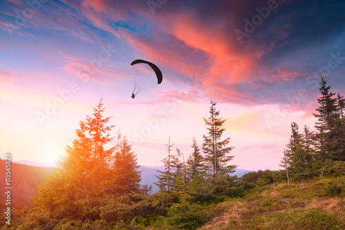 Foto op Canvas Luchtsport Under the red sky