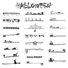 Halloween Doodle Black Lines A...