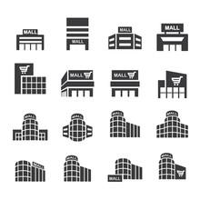Shopping Mall Icon Set.vector Eps10