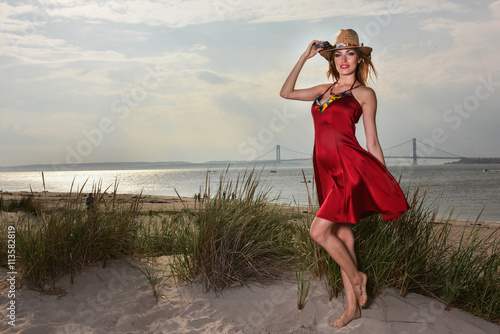 c46a8055c21 Fashion outdoor photo of beautiful sexy woman with blond hair ...