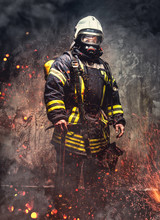 Rescue Man In Firefighter Unif...