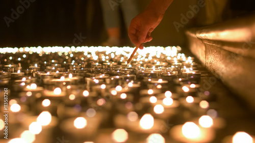 Lighting Up Candles of Prayer