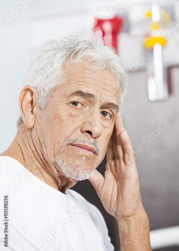 d394264d8d3 Sad Senior Man At Rehab Center - Buy this stock photo and explore ...