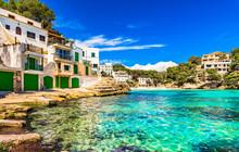 Mediterranean Sea Spain Seaside Cala Santanyi Majorca Balearic Islands