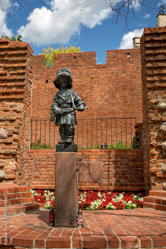 Photographie Monument to the Little Insurgent in Warsaw