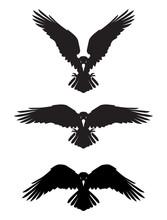 Dark Evil Heraldic Raven. Masc...