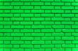 Leinwanddruck Bild - Green brick wall texture