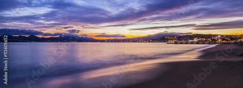 Obraz na plátně Panoramic scene of the Cannes on French Riviera