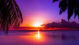 Fototapeta Sunset - Tahiti Sunset