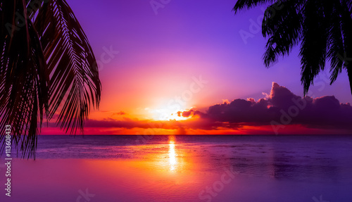 Tahiti Sunset Wallpaper Mural