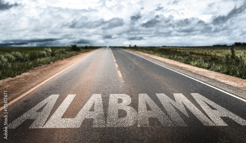 Alabama written on the road Wallpaper Mural