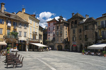 View On Central Square Of Domodossola, Piedmont, Italy