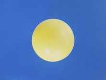 Yellow Circle On A Blue Background