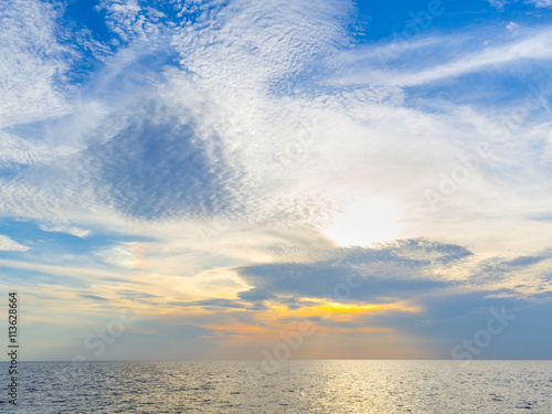 Foto op Canvas UFO Sunset in the sea
