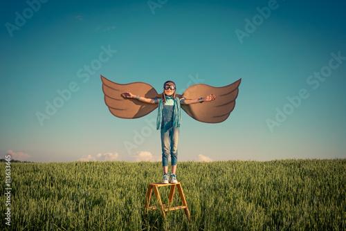 Fotografie, Obraz  Imagination and freedom concept