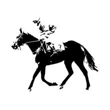 Horse Racing, Jockey, Vector D...