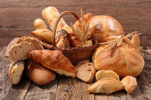 Spoed Foto op Canvas Brood bread and pastry