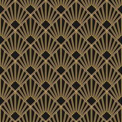Panel Szklany Podświetlane Art Deco Art Deco seamless vintage wallpaper pattern