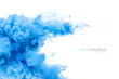 canvas print picture - Blue Acrylic Ink in Water. Color Explosion. Paint Texture