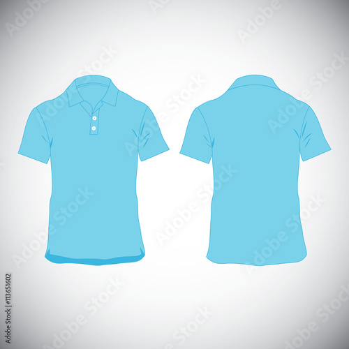 T Shirt Blue Template Front And Back Buy This Stock