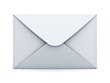 White mail envelope isolated over white background with shadow 3D rendering