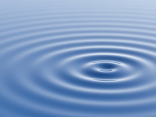 Water Waves And Ripples 3D Rendering
